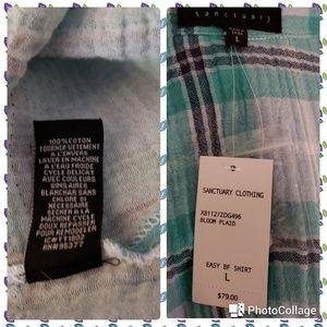 Anthropologie Tops - NWT. Anthropologie Sanctuary Easy Boyfriend Shirt